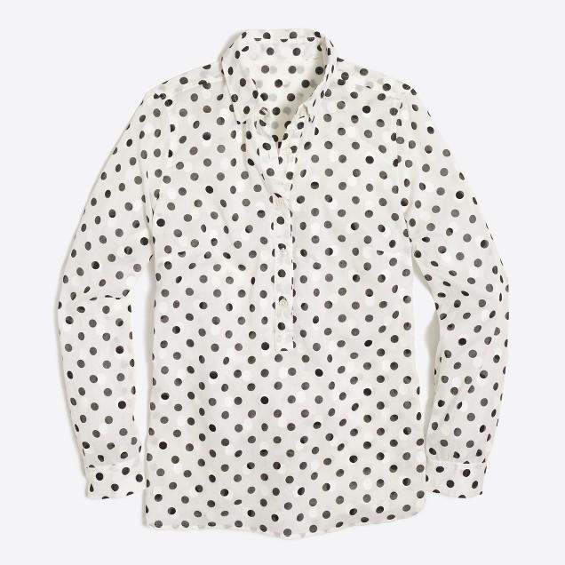 Jacquard dot popover shirt