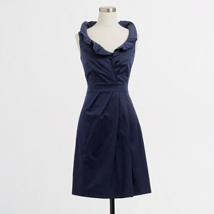 Factory cotton ruffle dress