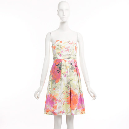 Factory Lorelei dress in printed poplin