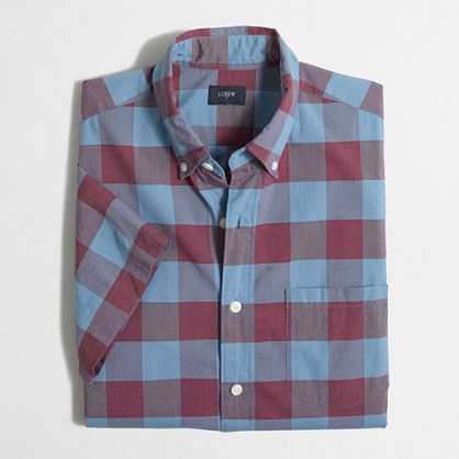 Short-sleeve washed shirt