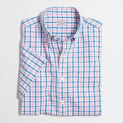 Factory short-sleeve washed shirt