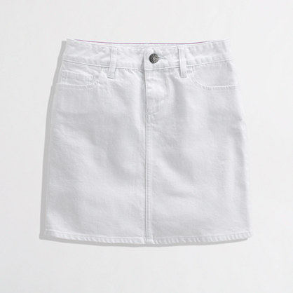 White Denim Mini : Women's Skirts | J.Crew Factory