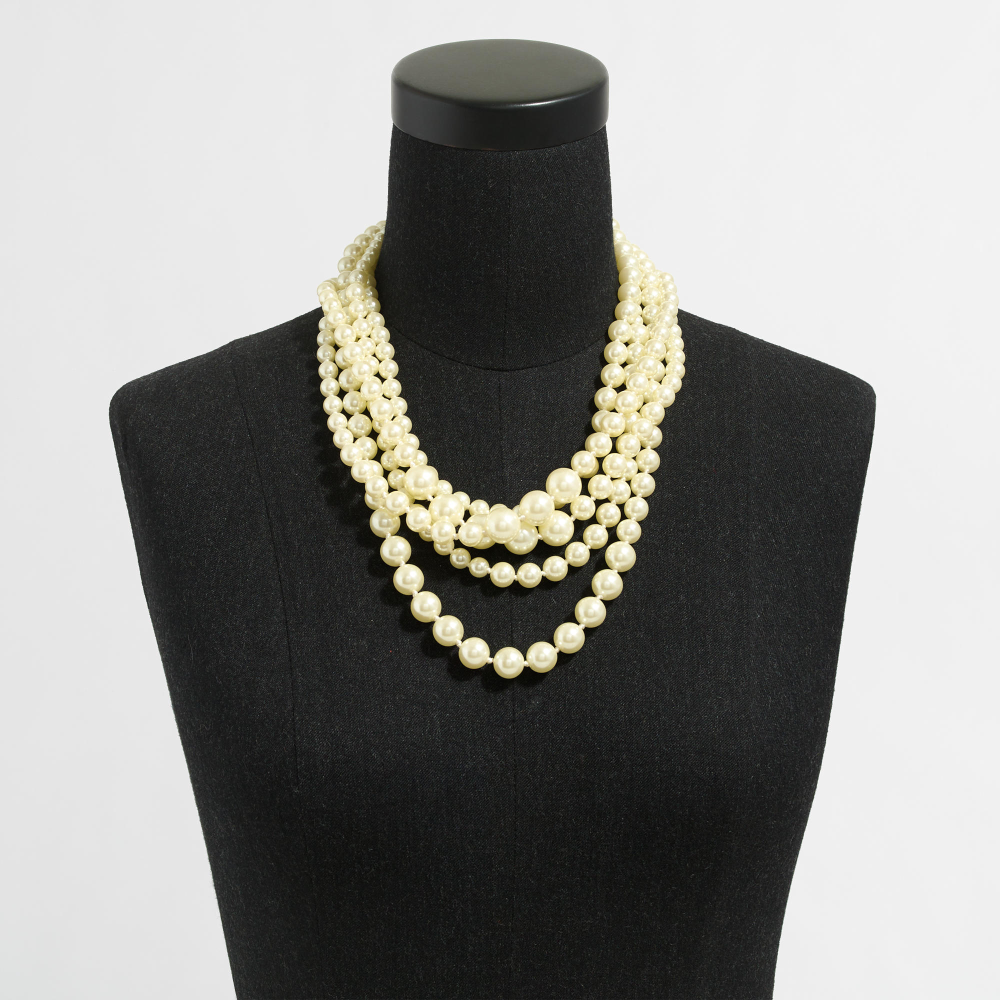 Multistrand Pearl Necklace; Multistrand Pearl Necklace