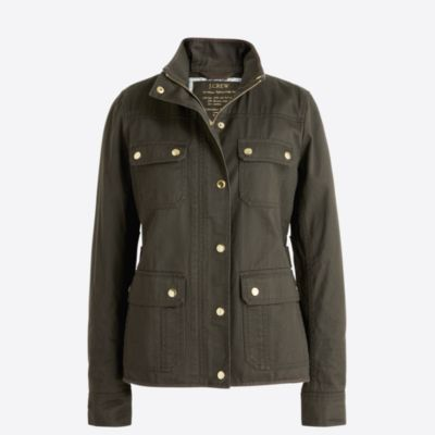 Resin-coated twill jacket   search