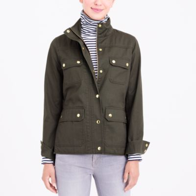 Resin-coated twill jacket