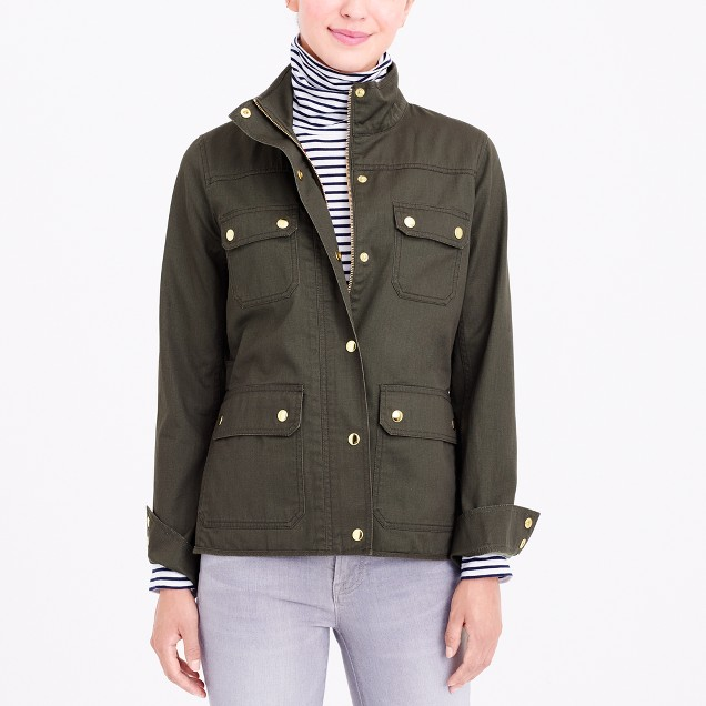 Resin-coated twill jacket