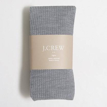 Ribbed wool tights