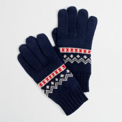 Factory festive Fair Isle gloves : FactoryMen Cold-Weather ...