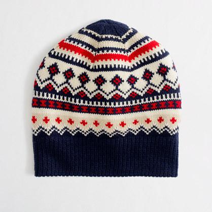 Factory festive Fair Isle hat