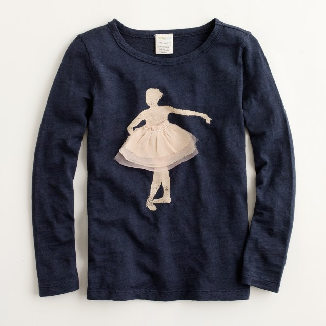 Factory girls' long-sleeve ballerina keepsake tee