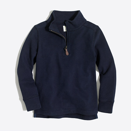 Boys' sueded half-zip popover sweatshirt
