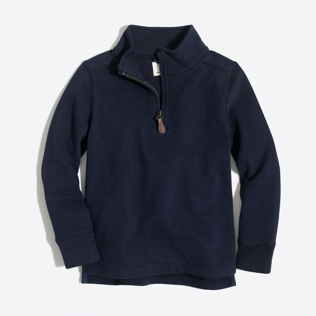 Boys' sueded half-zip popover sweatshirt