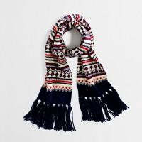 Factory festive Fair Isle scarf