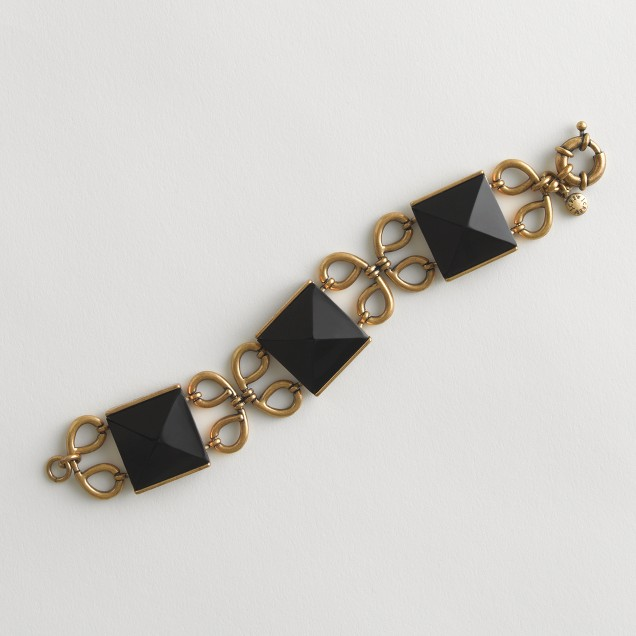 Factory enamel square and clover bracelet