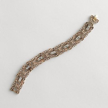 Factory linked bow-tie bracelet