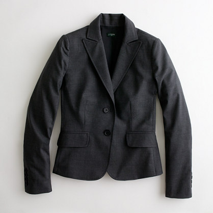 Factory blazer in lightweight wool