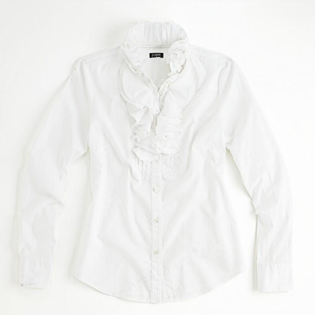 Factory Christen ruffled tuxedo shirt