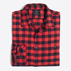 Plaid flannel workshirt