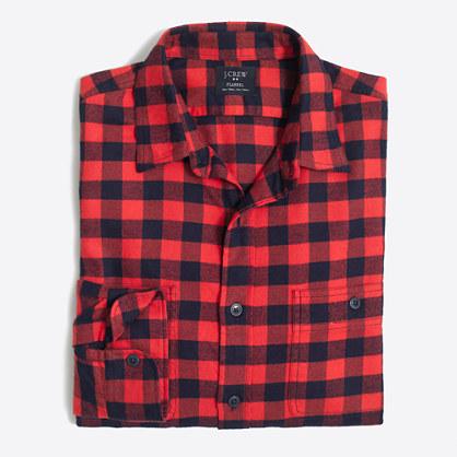 Slim Plaid Flannel Shirt Men S Shirts J Crew Factory