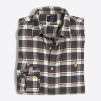 Plaid flannel workshirt