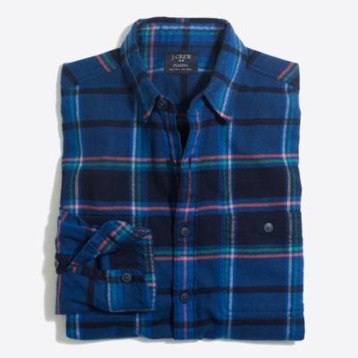 Slim plaid flannel shirt factorymen slim c