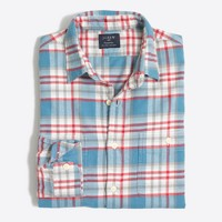 Tall plaid flannel workshirt
