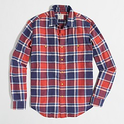 Factory plaid flannel workshirt