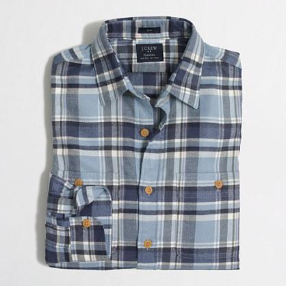 Factory Slim Plaid Flannel Shirt Flannel J Crew Factory