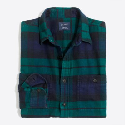 Plaid flannel workshirt   search