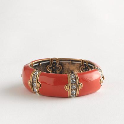 Factory stretch dotted crystal-stripe bracelet