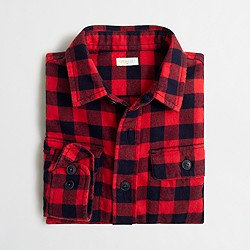 Boys' patterned flannel shirt