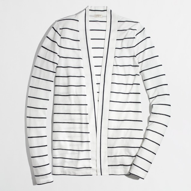 Factory always cardigan in stripe