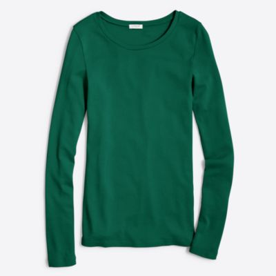 Fine-rib cotton long-sleeve T-shirt   sale