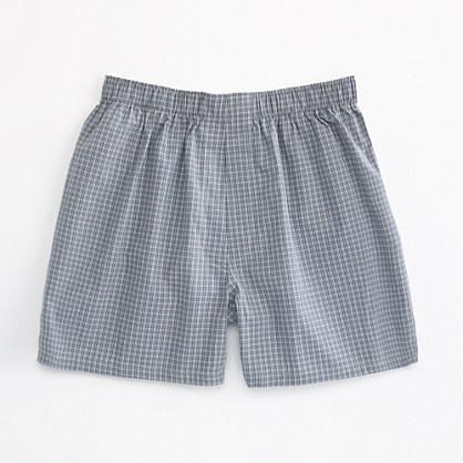 Factory tartan boxers