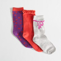 Factory girls' novelty socks three-pack