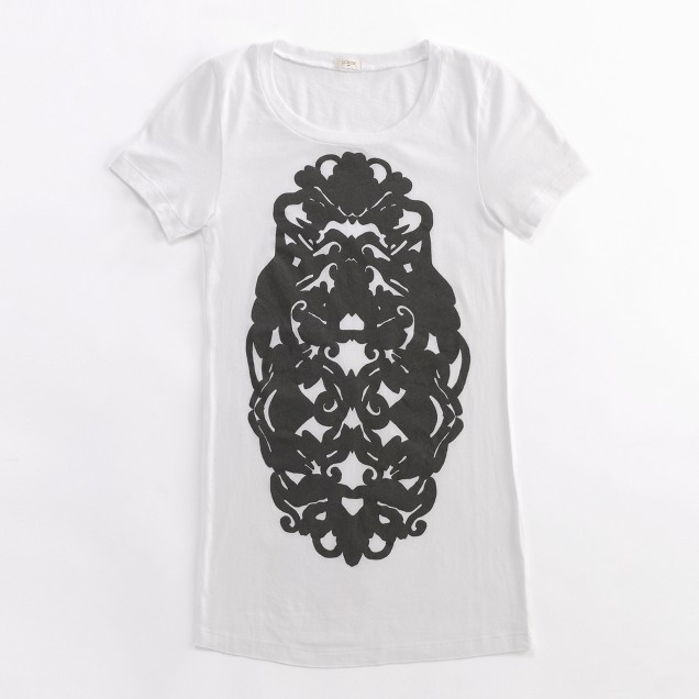Factory stamped Rorschach-print tee
