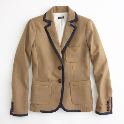 Factory wool herringbone professor blazer