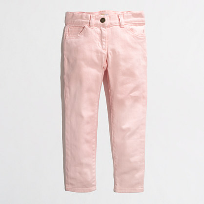 Factory girls' ankle skinny jean in garment-dyed