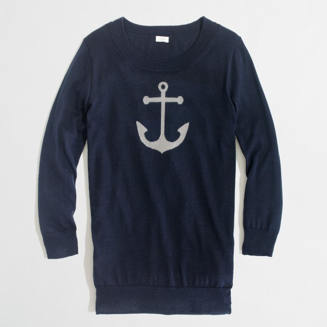 Factory intarsia Charley sweater in anchor
