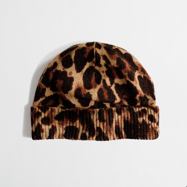 Factory warmspun leopard hat