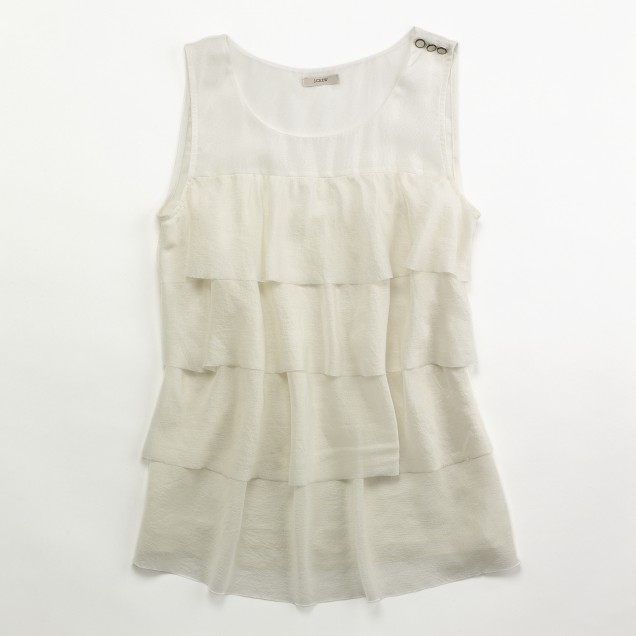 Factory silk tiered cami