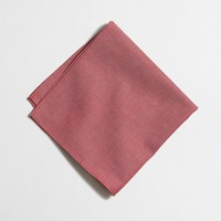 Factory red chambray pocket square