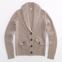 Factory shawl-collar cardigan
