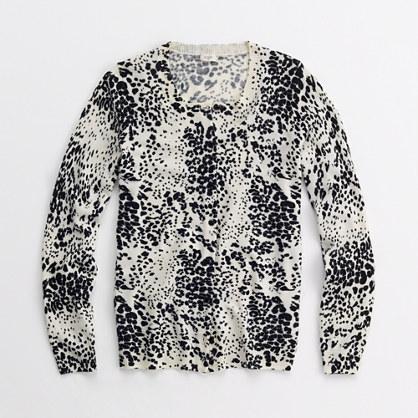 Factory merino leopard cardigan