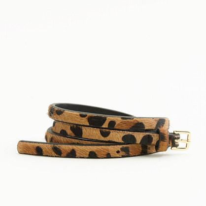 Factory skinny calf hair belt