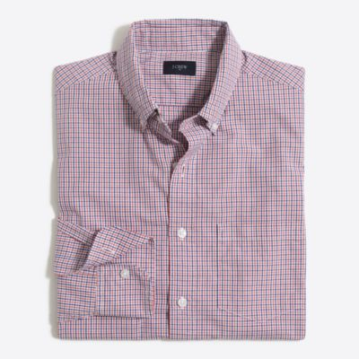 Washed shirt in tattersall factorymen casual shirts c