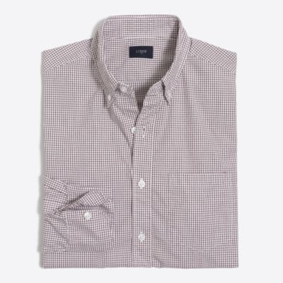 Washed shirt in tattersall factorymen the score: washed shirts c
