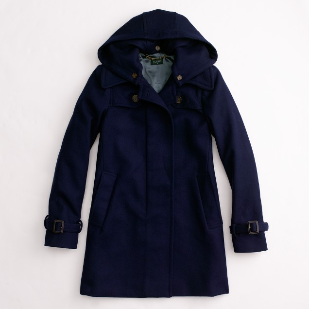 Factory wool duffle coat