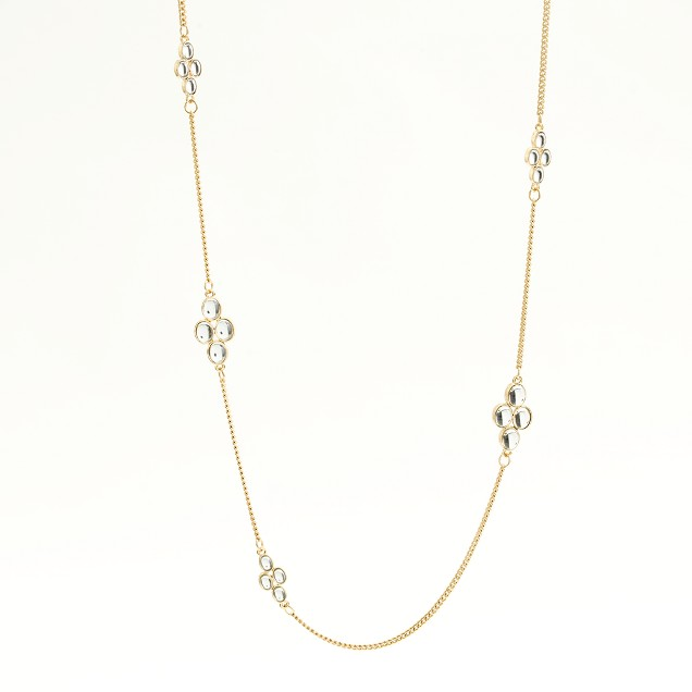 Factory dotted clover necklace