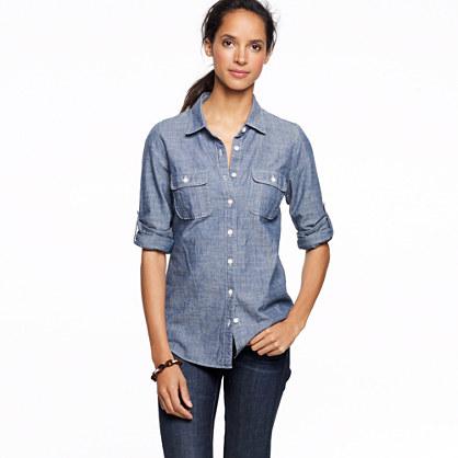 Two-pocket chambray shirt